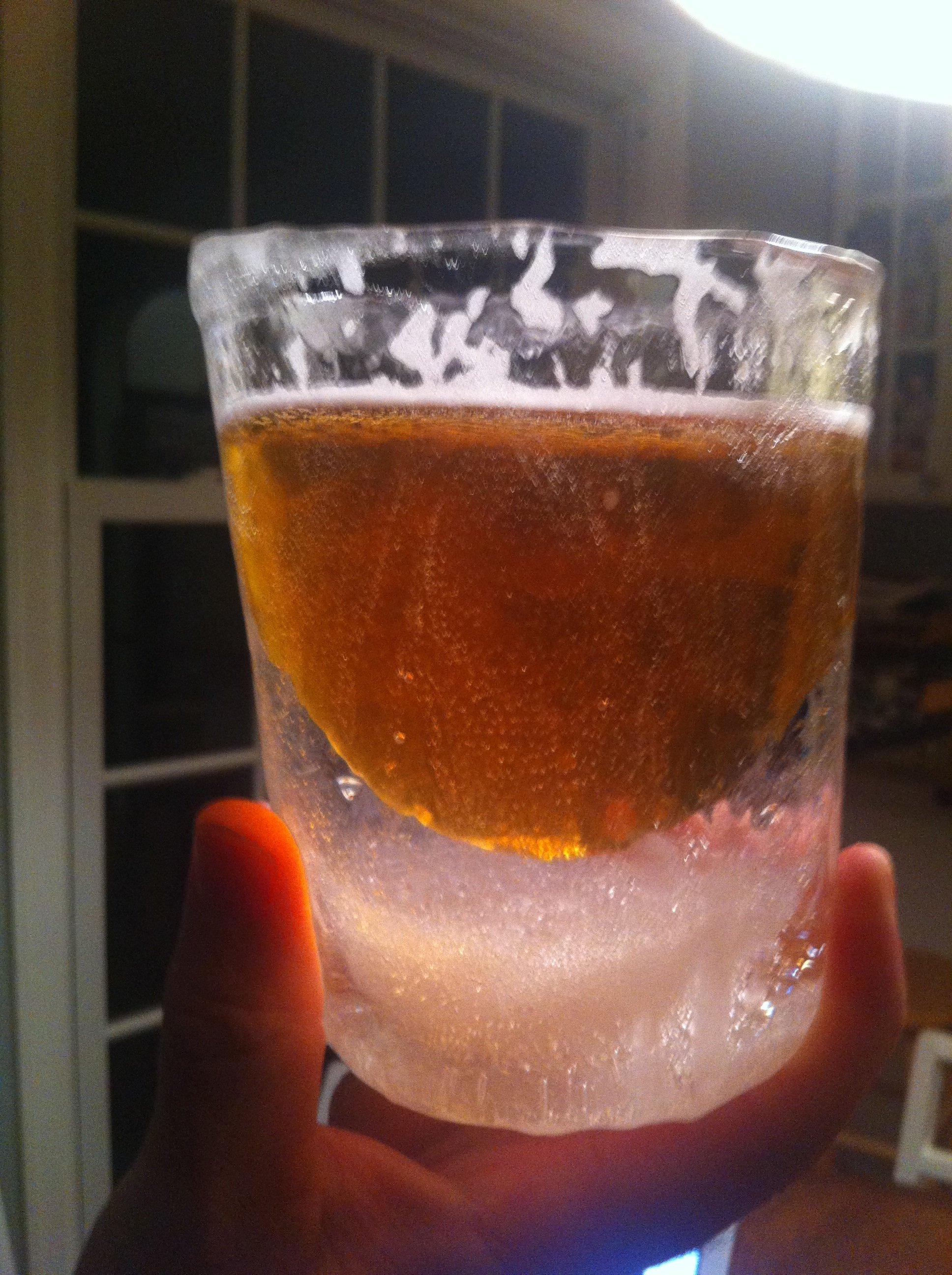 a clear nICE mug