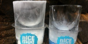 clear nICE mug on the right thanks to insulating the sides and base of mold.
