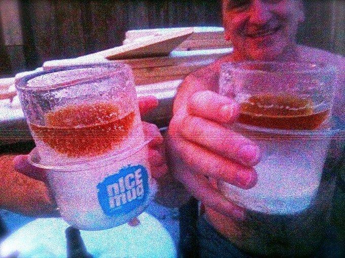 nICE mugs between sauna rounds