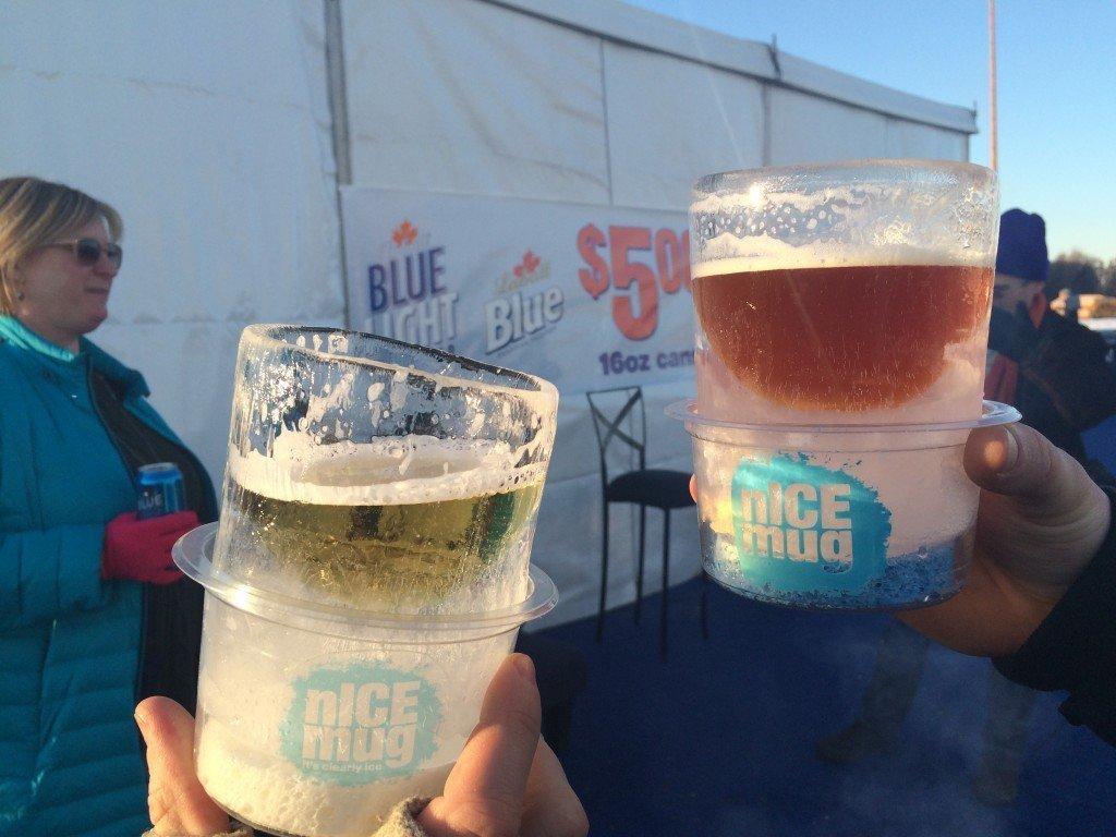 nICE mug glasses made out of ice